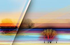 Abstract kleurrijk olieverfschilderij op canvastextuur Semi samenvatting stock illustratie