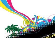 Abstract kleurrijk ontwerp royalty-vrije illustratie