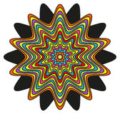 Abstract kleurrijk ornament (mandala) Royalty-vrije Illustratie