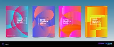 Abstract Kleurrijk Pop Art Book Cover Design royalty-vrije illustratie