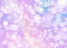 Abstract kleurrijk roze bokehbehang Royalty-vrije Stock Afbeeldingen