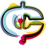 Abstract kleurrijk symbool Stock Afbeelding
