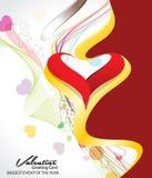 Abstract Kleurrijk Valentine Day Background Royalty-vrije Stock Afbeelding