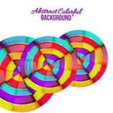 Abstract kleurrijk van de regenboogkromme ontwerp als achtergrond. Royalty-vrije Stock Afbeelding