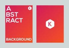 Abstract kleurrijk vector de banner van de achtergrond gradiëntaffiche ontwerpmalplaatje Royalty-vrije Stock Fotografie