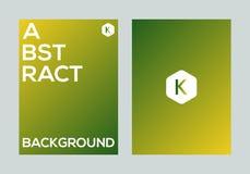 Abstract kleurrijk vector de banner van de achtergrond gradiëntaffiche ontwerpmalplaatje Royalty-vrije Stock Afbeeldingen