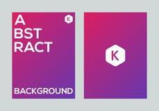 Abstract kleurrijk vector de banner van de achtergrond gradiëntaffiche ontwerpmalplaatje Stock Afbeeldingen