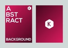 Abstract kleurrijk vector de banner van de achtergrond gradiëntaffiche ontwerpmalplaatje Royalty-vrije Stock Afbeelding