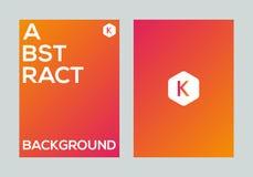 Abstract kleurrijk vector de banner van de achtergrond gradiëntaffiche ontwerpmalplaatje Stock Fotografie