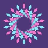 Abstract kleurrijk vectorcirkelkader Halftone punt Rond embleem Het embleem van de technologiecirkel vector illustratie
