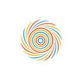 Abstract kleurrijk wervelingsbeeld Royalty-vrije Stock Foto