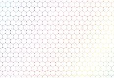 Abstract kleurrijk zeshoeken naadloos patroon op witte achtergrond en textuur vector illustratie