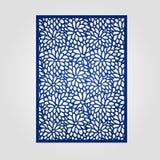 Abstract knipselpaneel voor laserknipsel, matrijzenknipsel of stencil Royalty-vrije Stock Afbeelding