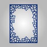 Abstract knipselpaneel voor laserknipsel, matrijzenknipsel of stencil Royalty-vrije Stock Foto's