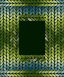 Abstract knitted frame Royalty Free Stock Photo