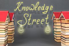 Abstract knowledge street. Books as the prospect for future. Success in education, science, business, etc Royalty Free Illustration