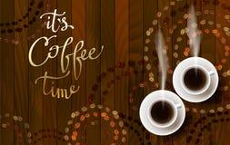 Abstract koffieontwerp vector illustratie