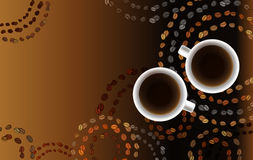 Abstract koffieontwerp met cirkels stock illustratie