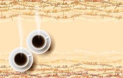 Abstract koffieontwerp met tekst royalty-vrije illustratie