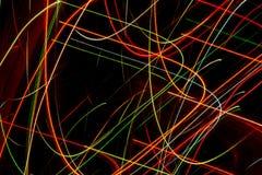 Abstract krommenlijnen gekleurd patroon Stock Foto's