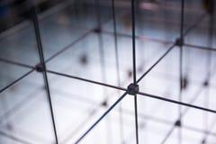 Abstract kubiek net royalty-vrije stock afbeeldingen