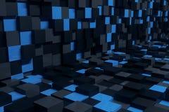 Abstract kubusbinnenland Stock Afbeelding