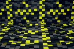 Abstract kubusbinnenland Stock Afbeeldingen