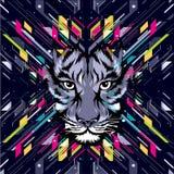 Abstract kunstbeeld met tijger Stock Afbeeldingen