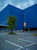 Abstract kunstelement van architectuurwarenhuis en straat Royalty-vrije Stock Afbeeldingen