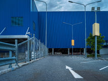 Abstract kunstelement van architectuurwarenhuis en straat Stock Afbeeldingen