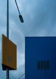 Abstract kunstelement van architectuurwarenhuis en straat Stock Foto's
