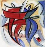 Abstract kunstontwerp stock illustratie