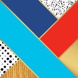 Abstract kunstpatroon Vectorillustratie voor manierontwerp Stock Afbeelding