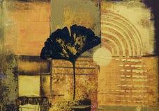 Abstract kunstwerk stock illustratie