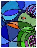 Abstract kunstwerk, kleurrijk schilderen, Royalty-vrije Stock Afbeelding