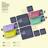Abstract label infographics Stock Images