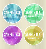 Abstract labels Royalty Free Stock Photos