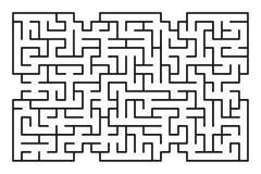 Abstract labyrint/labyrint met ingang en uitgang Stock Fotografie