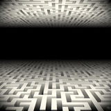 Abstract labyrinth in the darkness. Abstract white perspective labyrinth in the darkness Royalty Free Stock Photography