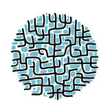 Abstract labyrinth shape for your design Stock Photos