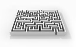 Abstract labyrinth Stock Photo
