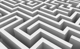 Abstract labyrinth Stock Photography