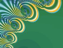 The abstract lace_3. Stylized patterned lace on a green background Royalty Free Stock Image