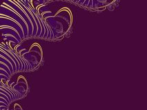 The abstract lace_5. Beautiful stylized patterned lace in maroon background Stock Image