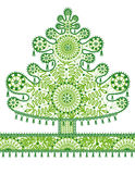 Abstract lace christmas tree. Vector illustration stock illustration