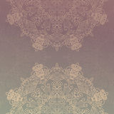 Abstract lace decoration , round shape Royalty Free Stock Photo