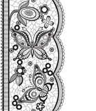 Abstract lace with elements of butterflies and flowers Stock Photos