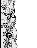 Abstract lace with elements of butterflies and flowers Stock Image