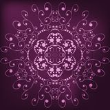 Abstract lace. Abstract pattern with lace on burgundy background Stock Illustration