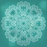 Abstract lace. Abstract pattern with lace on celadon background Vector Illustration
